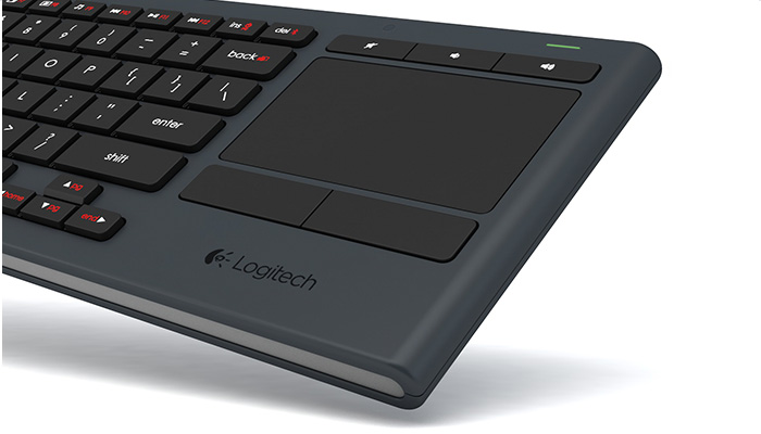 Integrated wireless keyboard with touchpad