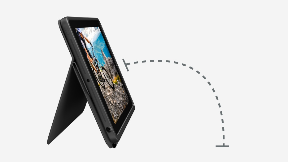 Rugged Folio | Showing its flexible angle range